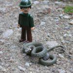 Igráček Strážce Jirka mapuje výskyt užovky obojkové