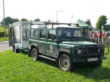 Terénní auto stráže přírody NP České Švýcarsko