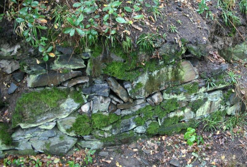 Keš schovaná v kamenné zídce