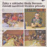 Berounský deník článek o přednášce